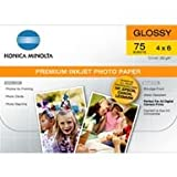 Konica Minolta Premium Glossy Photo Paper, 4in X 6in (75 sheets)