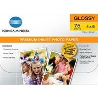 Konica Minolta Premium Glossy Photo Paper, 4in X 6in (75 Sheets) - Konica Photo Paper