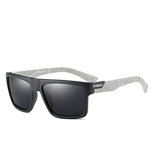 DUBERY Mens Sport Polarized Sunglasses Outdoor Riding Square Windproof Eyewear D918