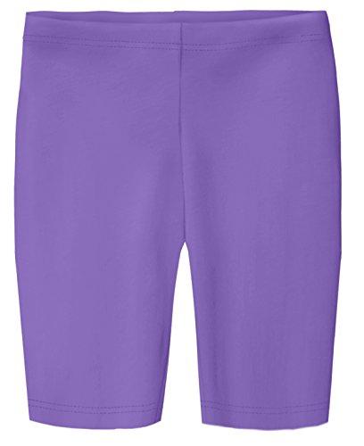 City Threads Big Girls Long Underwear Bike Shorts In 100% Cotton For Play, School, Dance, and Under Dresses; Medium Purple 12