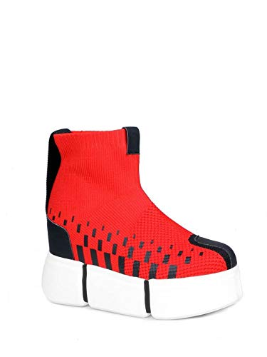 7c183c102253 Anthony Wang Cranberry06 Slip On Women s Sock Platform Sneakers in Red
