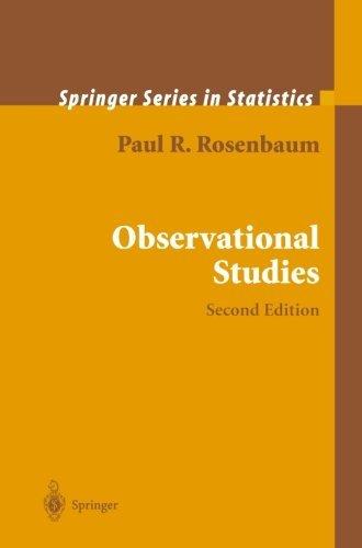 Observational Studies (Springer Series in Statistics) by Paul R. Rosenbaum (2010-12-03)