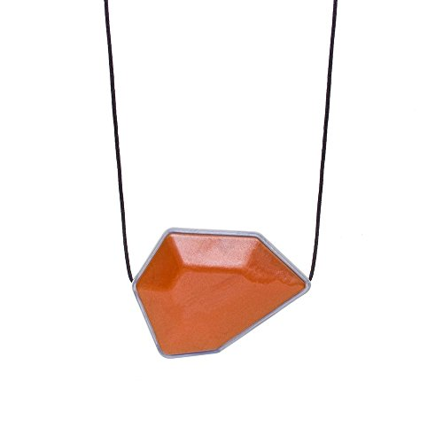 Gumigem The Gem Collection Teething Necklace By - Silicone Teething Necklace (Amber) ()