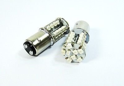 LEDIN 2 Pcs of 1157 40 SMD LED Rear Turn Signal Light BAY15d 2357 7528 Red (71 Chevelle Led Tail Lights)