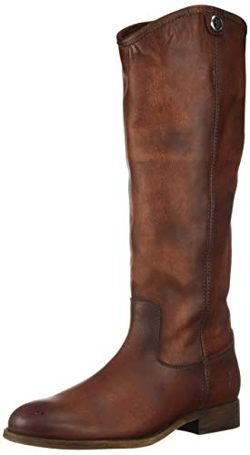 FRYE Women's Melissa Button 2 Equestrian Boot, red Clay, 8.5 M M US