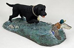 Labrador Retriever (Black) & Duck: Special Edition of My Dog Figurine by (Black Labrador Retriever Figurine)