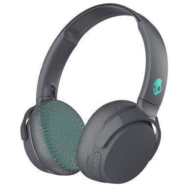 Skullcandy Riff Wireless On-Ear Headphones with Microphone, Bluetooth Wireless, Rapid Charge 10-Hour Battery Life, Foldable, Plush Ear Cushions with Durable Headband, Gray/Speckle/Miami
