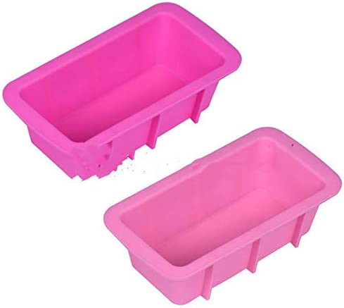 Mini Silicone Bread Loaf Pan Cake Mold, Non-Stick Loaf Cake Pans Toast Molds, Reusable Food Grade BPA Free Rectangle Silicone Bakeware Pans for Baking Cakes, Homemade Breads, Meatloaf, Quiche