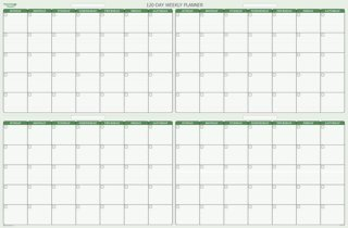 Amazon.com : 120-Day 4-Month Dry/Wet-Erasable wall Calendar Kit ...