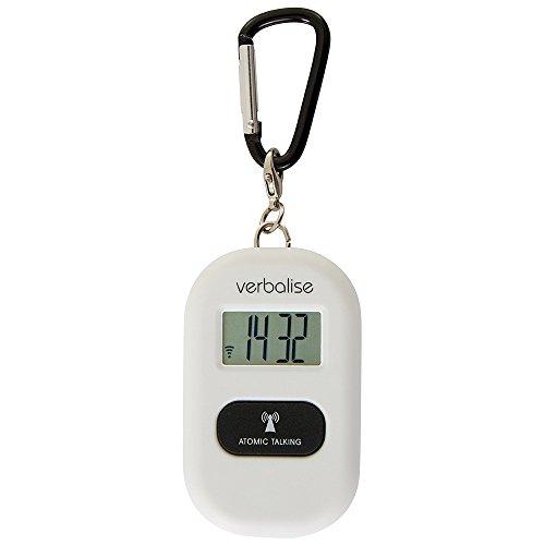 Verbalise Talking 5 Alarm Medication Reminder Keychain White (White) (Alarm Keychain Clock)