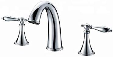 家庭用浴室の蛇口 3穴デュアルハンドル古典金クロームポリッシュ浴室の混合栓浴槽の蛇口 浴室の台所の蛇口
