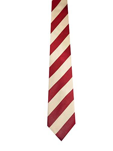 - Crimson Cream Stripe Kappa Alpha Fraternity Real Silk Necktie