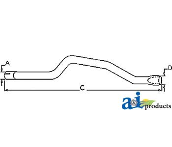 (A&I Products HORIZONTAL TAILPIPE PART NO: A-313808 )