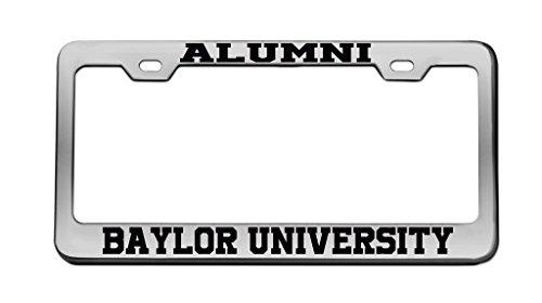 Baylor University Alumni - Alumni Baylor University Chrome License Plate Frame Tag Black