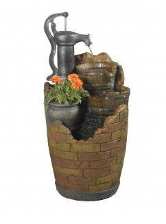 Glenville Water Pump Cascading Water Fountain - Indoor Outdoor Fountains