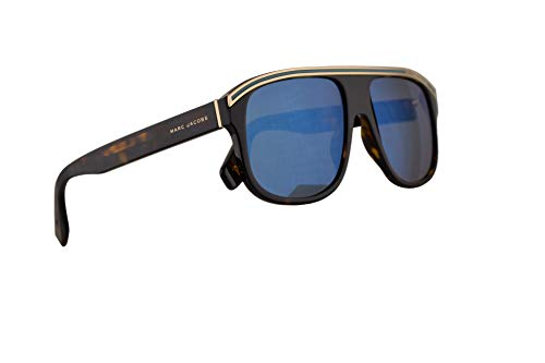 Marc Jacobs Marc 388/S Sunglasses Dark Havana w/Khaki Mirror Blue Lens 58mm 086 3U Marc 388S Marc388S Marc388/s ()