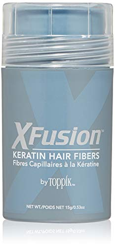XFusion Keratin Hair Fibers Regular, Light Brown, 15g / 0.53 Ounce