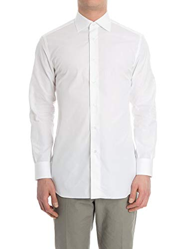 (BRIONI Men's Rcl83tpz0041100 White Cotton Shirt)