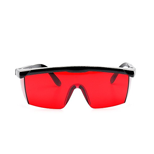 Cross /& Multi Line and Rotary Lasers With Anti Lost Function Black Frame Adjustable Eye Protection Safety Goggles For View Enhancing Blue Laser Enhancement Glasses Protective Case ! Alignment