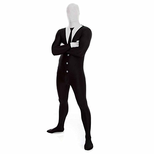 [Slender Man Morphsuit Costume - size XXLarge - 6'2-6'9 (186cm-206cm)] (Halloween Costumes For 4 People)