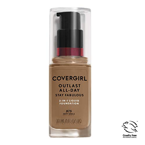 COVERGIRL Outlast All-Day Stay Fabulous 3-in-1 Foundation Soft Sable, 1 oz (packaging may vary)