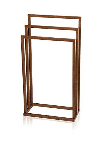 towel holder stand tier mv bamboo square freestanding 3tier towel bathroom rack stand bar holder amazoncom