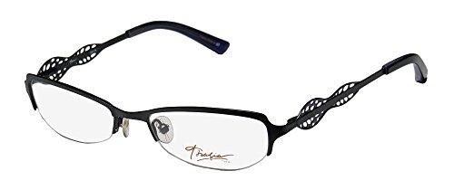 Thalia Edita Womens/Ladies Optical Inexpensive Designer Half-rim Eyeglasses/Eye Glasses (52-17-135, Black / - Designer Inexpensive Glasses