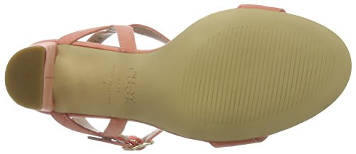 New Look Wide Foot TIMMS, Escarpins Bout Ouvert Femme Rose (Dark Coral 83)