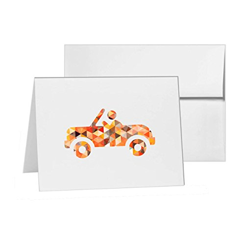 Convertible Roof Soft Top Speed, Blank Card Invitation Pack, 15 cards at 4x6, Blank with White Envelopes Style (6 Speed Convertible)