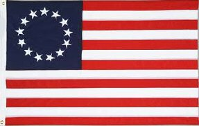 Betsy Ross - 3 ft x 5 ft Nylon Flag (Sewn and Embroidered) ()