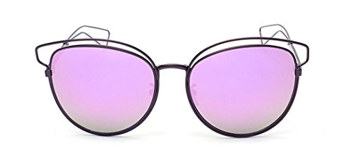 GAMT Cat Eye Sunglasses Reflective Fashion Oversized Classic Style Vintage Glasses - Real Cartier Glasses