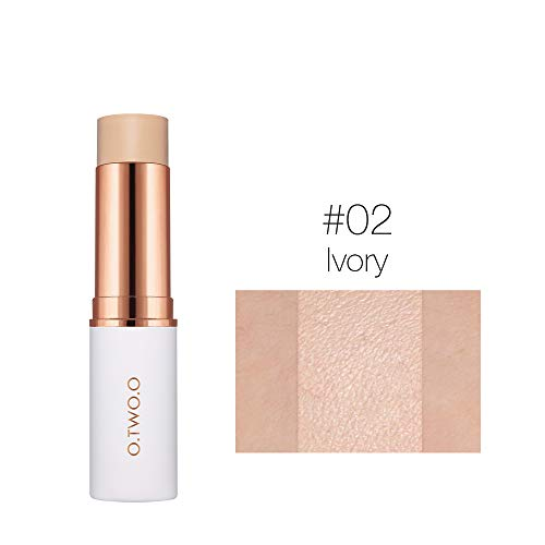 Velvet Matte Foundation Stick 6 Colors Makeup Concealer Lasting Waterproof Cover Blemish Cosmetic Liquid PaperMake up 02 Ivory
