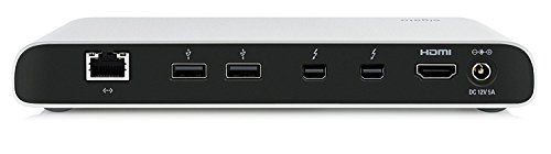 Elgato Thunderbolt 2 Dock with 50 cm Thunderbolt cable, 20Gb/s, 4K support, 2x Thunderbolt 2, 3x USB 3.0, audio input and output, Gigabit Ethernet, aluminum chassis (Certified Refurbished) by Elgato (Image #1)
