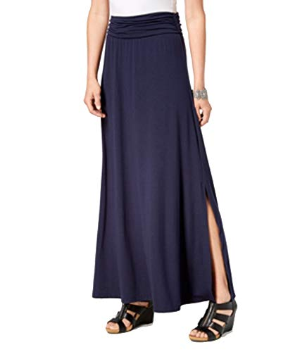 (Style & Co. Comfort-Waist Maxi Skirt, (Industrial Blue, M))