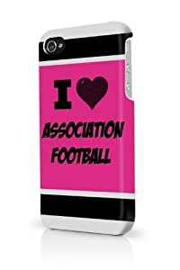 Association Football Pink iPhone 5/5S Case - For iPhone 5/5S - Designer PC Case Verizon AT&T Sprint