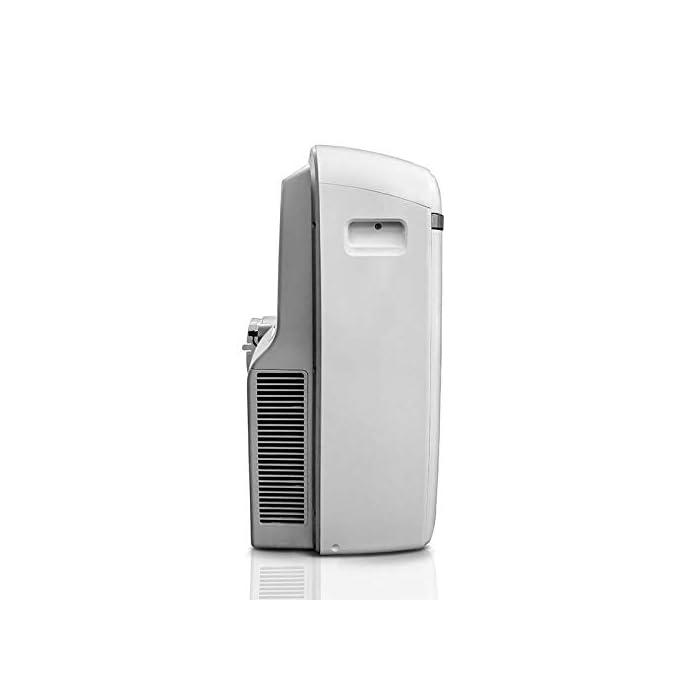 317McwfdNbL Multifunción 3 en 1: unidad de aire acondicionado portátil con ventilador de enfriamiento y función de deshumidificación, incluida la manguera de escape. Función de enfriamiento: la capacidad de enfriamiento de 12000 BTU, con sistema de filtración de aire, puede mejorar la calidad del aire. Función de deshumidificación: puede usarse independientemente de la función de aire acondicionado; le permite extraer hasta 21 litros de exceso de agua y humedad de la atmósfera todos los días