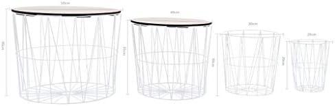 Goedkoop Tidyard Industriële salontafel voor woonkamer, vintage, ronde salontafel met metalen rek, 2 maten voor optioneel  lxJChgA