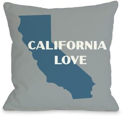 One Bella Casa California Love Throw Pillow by OBC, 26 x 26 , Gray Blue
