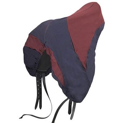 Roma Two Tone Dressage Saddle Cover - Navy/Burgundy by Roma F.C.
