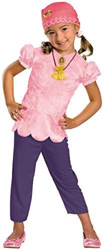 Jake Pirates Halloween (Disney Jake And The Neverland Pirates Izzy Classic Costume, Pink/Purple, Child size Large)