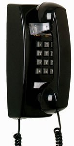 25402 Wall Phone BLACK