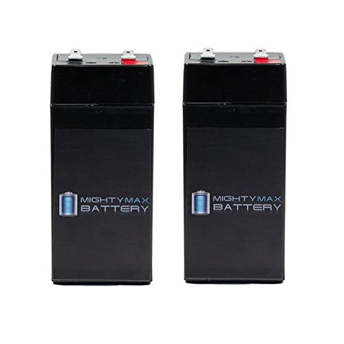 - Mighty Max Battery 4 Volt 4.5 Ah SLA Battery for Fi-Shock Electric Fence - 2 Pack brand product