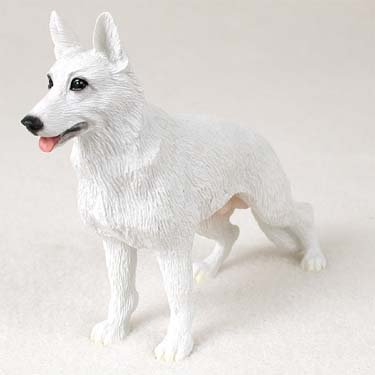German Shepherd White Figurine - Gift for Dog ()