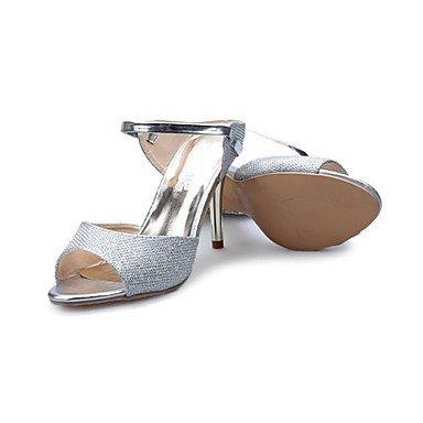 Casual 5 otros US5 5 oro UK3 rosa de EU36 Stiletto mujer sandalias verano PU CN35 Blanco talón Plata Otros Sandalias UI8Znxq6