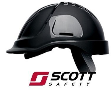 Hard Hat Black with Sweatband Scott HC300 Vented Safety Helmet