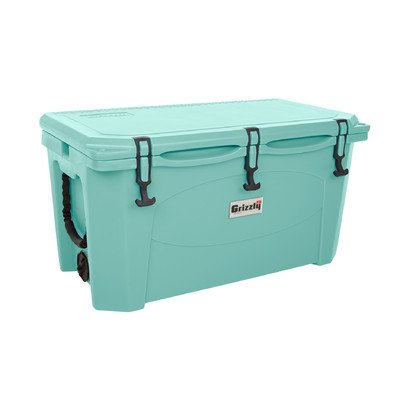 Grizzly Coolers G75 Seafoam Green - 75 Quart Roto-Molded Cooler with Tested Ice Retention of Over 9 Days - Extreme Durability and - Made in the USA by GRIZZLY