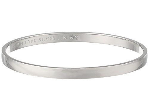 "kate spade new york ""Idiom Bangles"" Find The Silver Lining Solid Bangle Bracelet"