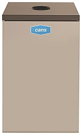 Rubbermaid Commercial Collect-A-Cube Trash Can, 22.5 Gallon, Beige, FGNC24C