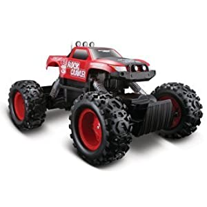 """Maisto R/C Rock Crawler Articulated Front & Rear Suspensions, Heavy-duty Coil Spring 3 Motors: 2-driving, 1-steering"""