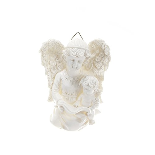 Angel Holding onto Baby Angel Wall Plaque - White, Set of 4
